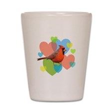 Cardinal Hearts Shot Glass