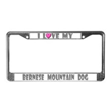I Love My Bernese Mountain Do License Plate Frame