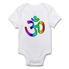 Rainbow Om Infant Creeper