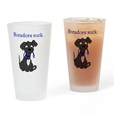 Boradors rock - designer dog breed  Drinking Glass