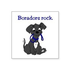 "Boradors rock - designer do Square Sticker 3"" x 3"""