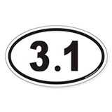 3.1 Euro Oval Bumper Stickers