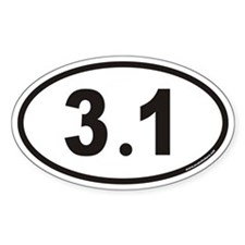 3.1 Euro Oval Decal