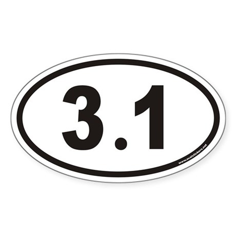 My new running bumper sticker 31_euro_oval_decal