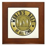 Father's Day World's Best Dad Framed Tile