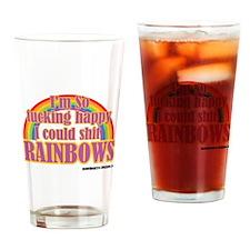 Cute Rainbow Drinking Glass