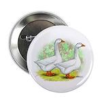 Embden Goose Pair Button