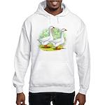Embden Goose Pair Hooded Sweatshirt