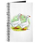 Embden Goose Pair Journal