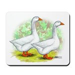 Embden Goose Pair Mousepad