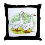 Embden Goose Pair Throw Pillow