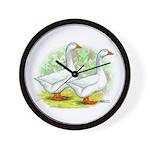 Embden Goose Pair Wall Clock