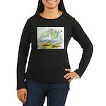 Embden Goose Pair Women's Long Sleeve Dark T-Shirt