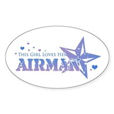 This girl loves her Airman Oval Decal