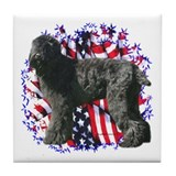 Black Russian Patriotic Tile Coaster