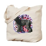 Black Russian Patriotic Tote Bag