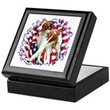 Brittany Patriotic Keepsake Box