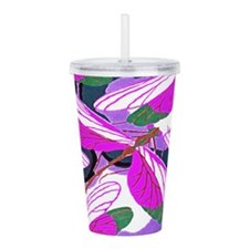 Amethyst Wings Acrylic Double-wall Tumbler