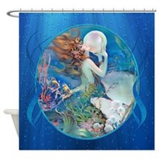 Clive Sensual Pearl Mermaid Shower Curtain