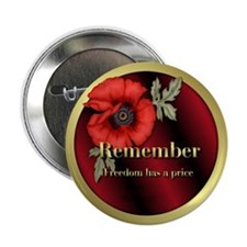 "Remember Poppy 2.25"" Button (10 pack)"