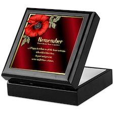 Remember Poppy Keepsake Box