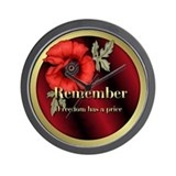 Remember Poppy Wall Clock