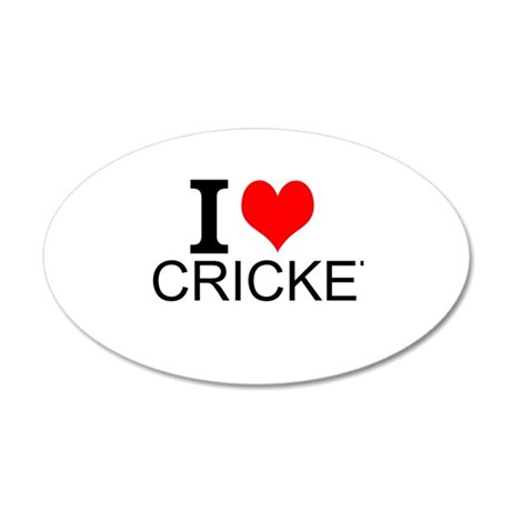 I Love Cricket Wall Decal