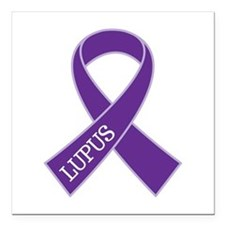 "Lupus Awareness Month Square Car Magnet 3"" x 3"""