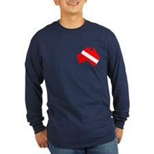 Diver Down Austrailia Long Sleeve T-Shirt