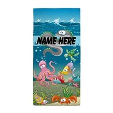 Cute Fish Kids Custom Beach Towel