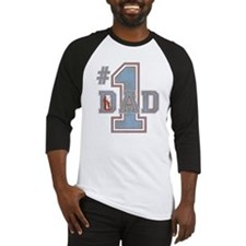 Number 1 Dad Baseball Jersey