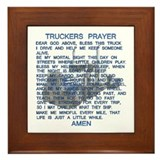 Trucker's Prayer Framed Tile