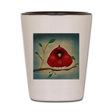Red Bird Cardinal Shot Glass