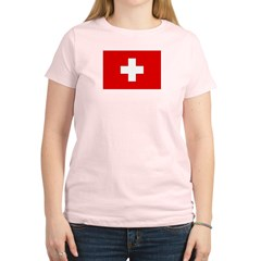 SWISS CROSS FLAG Women's Light T-Shirt