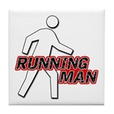 Running Man Tile Coaster