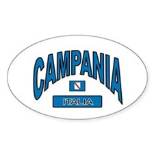 Campania Italy Oval Decal