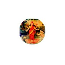 Lakshmi Goddess of Wealth, Wi Mini Button