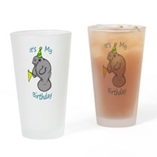 Birthday Manatee Drinking Glass