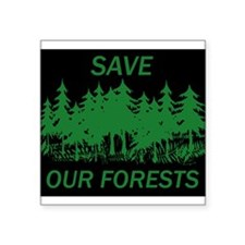 "Funny Save the planet Square Sticker 3"" x 3"""