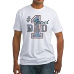 Number 1 Granddad Fitted T-Shirt