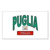 Puglia Italy Rectangle Decal