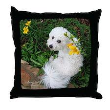 """""""Springtime Bichon"""" Throw Pillow"""