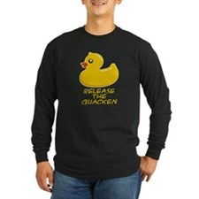 Release the Quacken Dark Long Sleeve T-Shirt