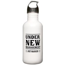 Under New Management Just Married Water Bottle