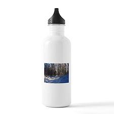 Snow Trail Scenery Water Bottle