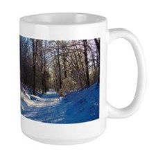 Snow Trail Scenery Mugs