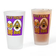 vet tech veterinary technician Drinking Glass