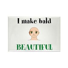 i make bald beautiful Magnets