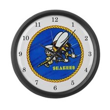 US Navy SeaBees Large Wall Clock