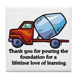 Thank you teacher gifts Tile Coaster